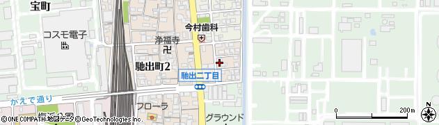 三重県四日市市高旭町周辺の地図
