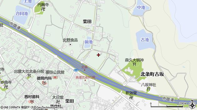 〒675-2302 兵庫県加西市北条町栗田の地図