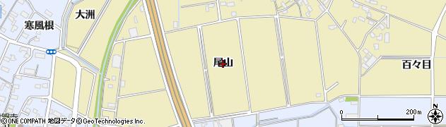 愛知県安城市福釜町(尾山)周辺の地図