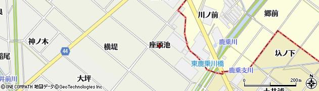 愛知県安城市安城町(座頭池)周辺の地図