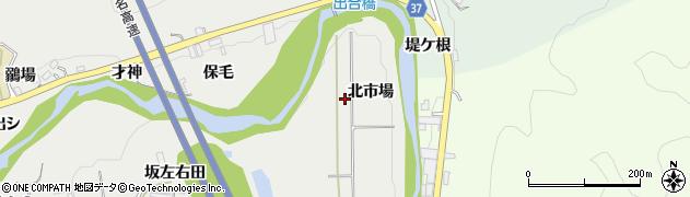 愛知県岡崎市生平町(北市場)周辺の地図