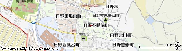 京都府京都市伏見区日野不動講町周辺の地図