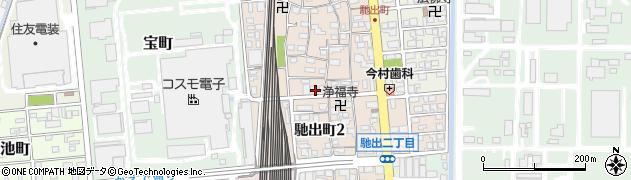 三重県四日市市馳出町周辺の地図