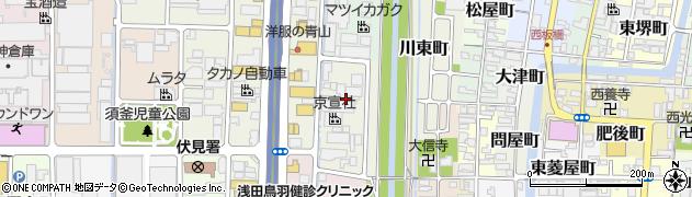 京都府京都市伏見区島津町周辺の地図