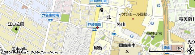 愛知県岡崎市戸崎町(郷畔)周辺の地図