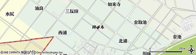 愛知県岡崎市下佐々木町(神ノ木)周辺の地図
