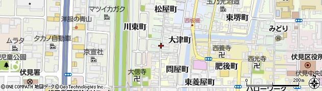 京都府京都市伏見区西堺町周辺の地図