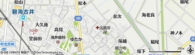 愛知県安城市古井町(西川)周辺の地図