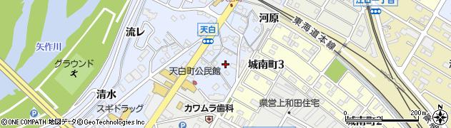 愛知県岡崎市天白町(河原)周辺の地図