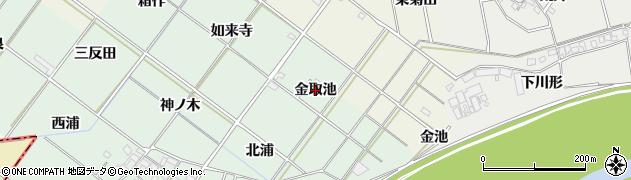 愛知県岡崎市下佐々木町(金取池)周辺の地図