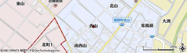 愛知県安城市榎前町(西山)周辺の地図