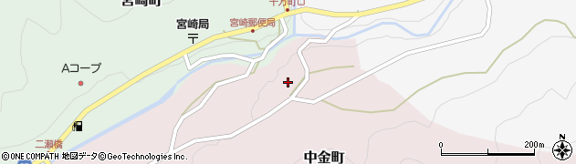 愛知県岡崎市中金町(森東下)周辺の地図
