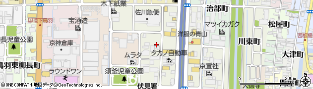 京都府京都市伏見区南寝小屋町周辺の地図