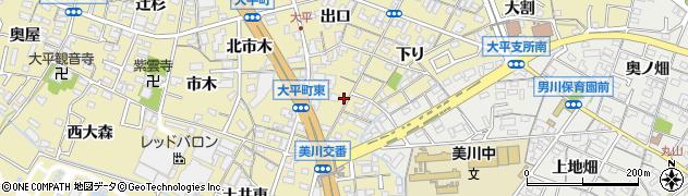愛知県岡崎市大平町(上下り)周辺の地図