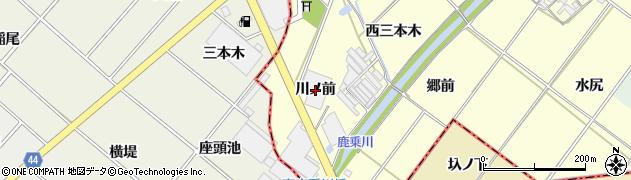 愛知県岡崎市島坂町(川ノ前)周辺の地図