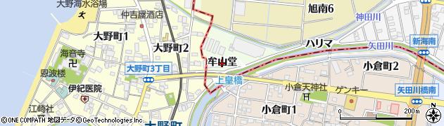 愛知県知多市大草(牟山堂)周辺の地図