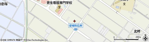 愛知県安城市安城町(広岸)周辺の地図