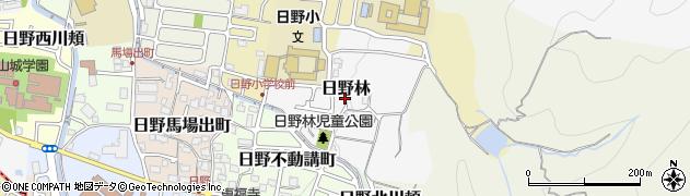 京都府京都市伏見区日野林周辺の地図