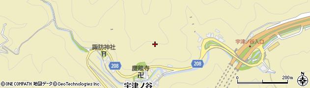 静岡県静岡市駿河区宇津ノ谷周辺の地図