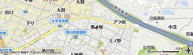 愛知県岡崎市丸山町(奥ノ畑)周辺の地図