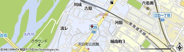 愛知県岡崎市天白町(郷西)周辺の地図