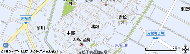 愛知県安城市赤松町(北畑)周辺の地図