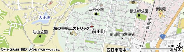 三重県四日市市前田町周辺の地図