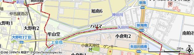 愛知県知多市大草(ハリマ)周辺の地図