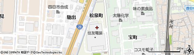 三重県四日市市松泉町周辺の地図