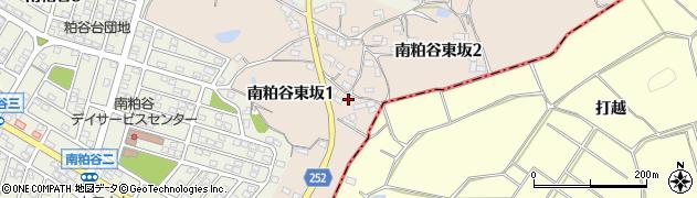 愛知県知多市南粕谷東坂周辺の地図