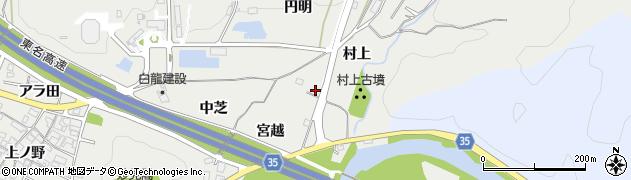 愛知県岡崎市丸山町(村上)周辺の地図