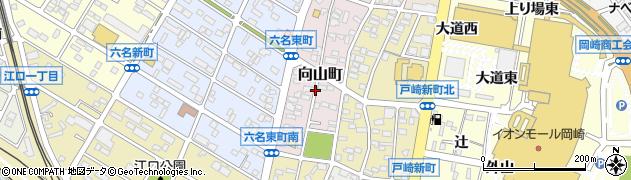 愛知県岡崎市向山町周辺の地図