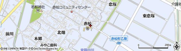 愛知県安城市赤松町(小山)周辺の地図
