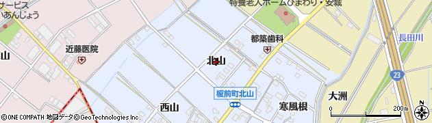 愛知県安城市榎前町(北山)周辺の地図