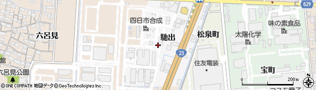 三重県四日市市馳出周辺の地図
