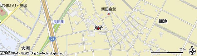 愛知県安城市福釜町(荒子)周辺の地図