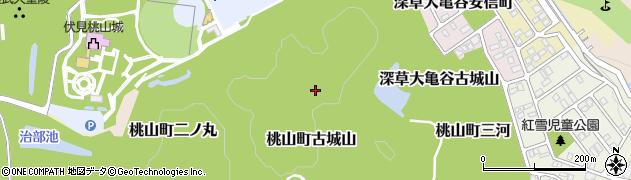 京都府京都市伏見区桃山町古城山周辺の地図