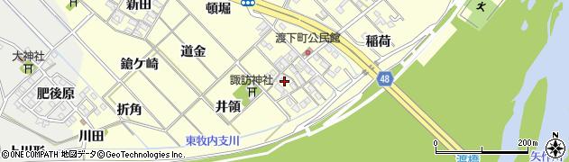 愛知県岡崎市渡町(諏訪)周辺の地図