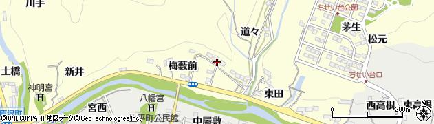 愛知県岡崎市茅原沢町周辺の地図