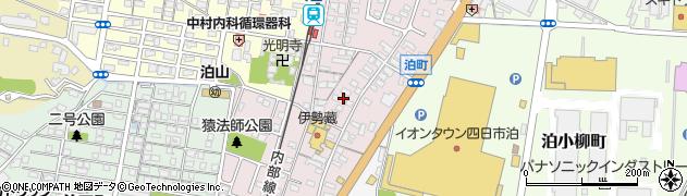 三重県四日市市泊町周辺の地図