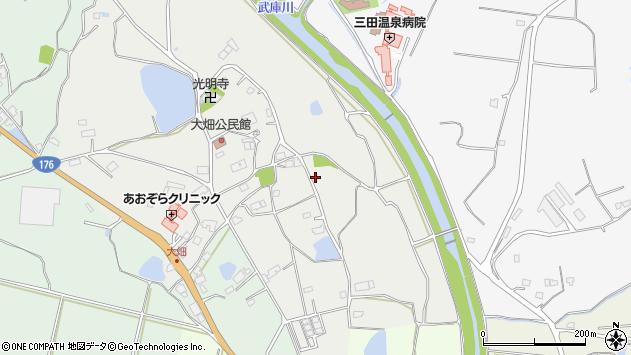 〒669-1354 兵庫県三田市大畑の地図