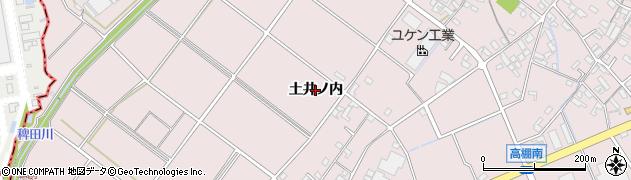 愛知県安城市高棚町(土井ノ内)周辺の地図
