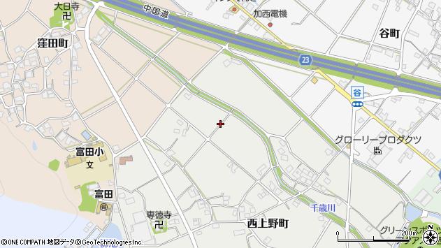 〒675-2362 兵庫県加西市西上野町の地図