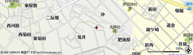 愛知県岡崎市東牧内町周辺の地図