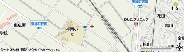 愛知県安城市安城町(庚申)周辺の地図