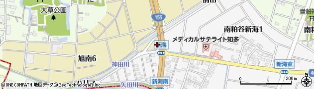 愛知県知多市旭南周辺の地図
