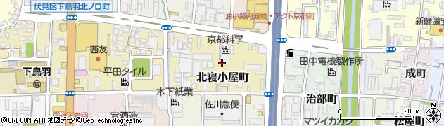 京都府京都市伏見区北寝小屋町周辺の地図