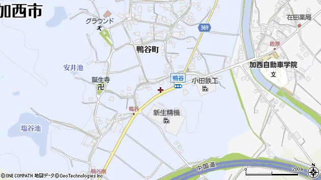 〒675-2444 兵庫県加西市鴨谷町の地図
