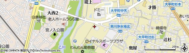 愛知県岡崎市大平町(石亀)周辺の地図