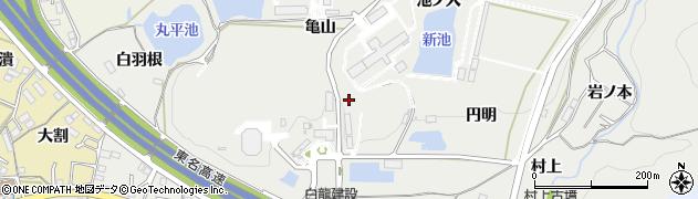 愛知県岡崎市丸山町(亀山)周辺の地図